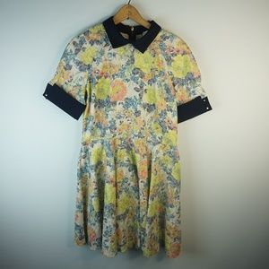 CLOSET LONDON Floral Sparkle Collar Dress 16